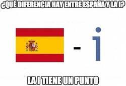 Enlace a ¿Qué diferencia hay entre España y la i?