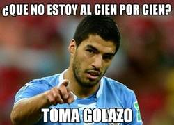 Enlace a Golazo de Suárez que adelanta a Uruguay
