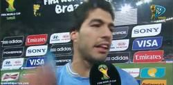 Enlace a GIF: La emoción de Luis Suárez tras el partido. Era muy importante para él