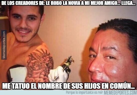 343166 - Mauro Icardi se tatúa los nombres de los hijos de Wanda y Maxi López... ¿Amor o provocación?