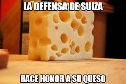 Enlace a La defensa de Suiza honorando al queso gruyere