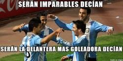 Enlace a Muy decepcionante esta delantera de Argentina