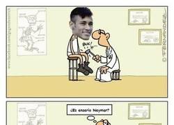 Enlace a Neymar en su papel hasta cuando va al doctor