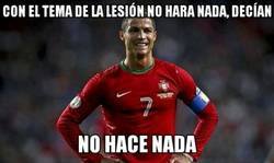 Enlace a Cristiano no está en forma y Portugal se resiente