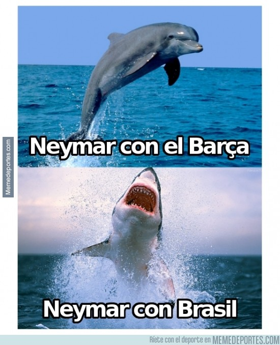 345904 - Neymar con el Barça vs Neymar con Brasil