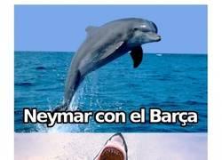 Enlace a Neymar con el Barça vs Neymar con Brasil