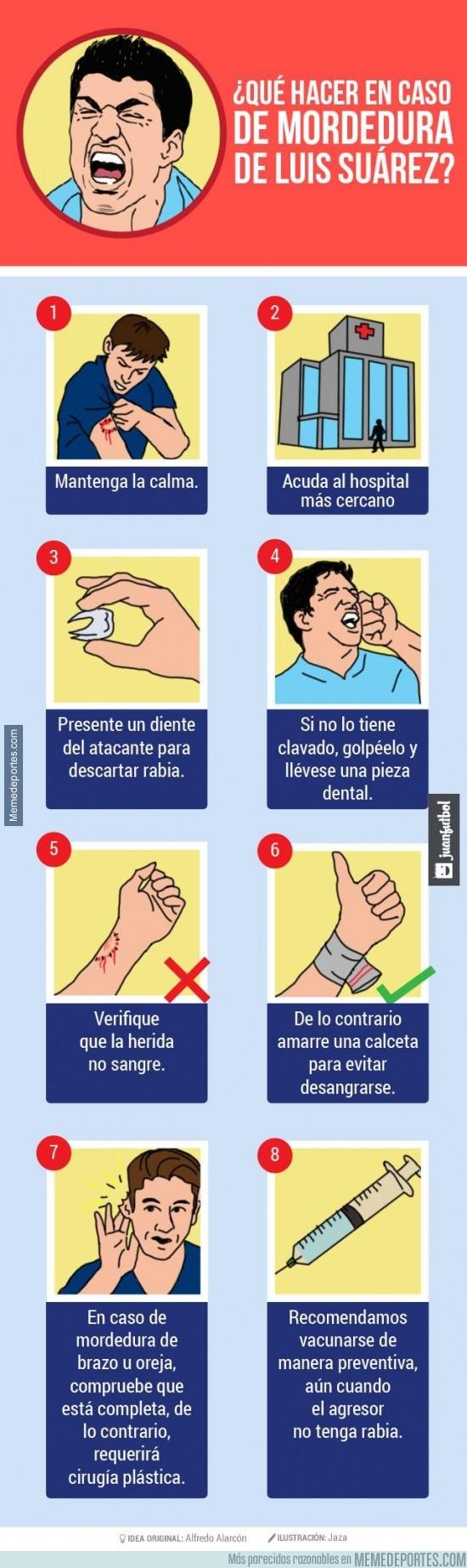 348038 - Qué hacer en caso de mordedura de Luis Suárez