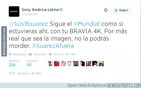 348903 - Sony se suma a la moda de twittearle a Suárez
