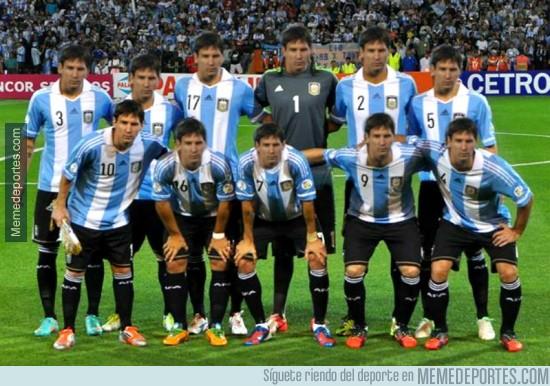 349104 - La selección de Argentina en el Mundial