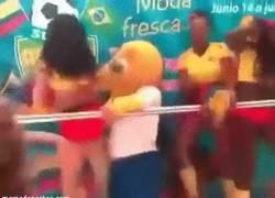 Enlace a GIF: Pobre mascota, se ve que lo está pasando mal en Brasil