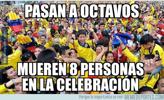 350906 - La celebración de Colombia no es moco de pavo