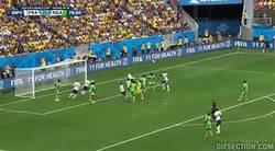 Enlace a GIF: Asistencia de Valbuena, gol de cabeza de Pogba y Francia a cuartos