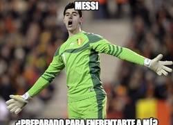 Enlace a ¿Podrá esta vez Messi contra Courtois?