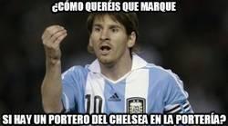 Enlace a Imposible que Messi le marque a Courtois