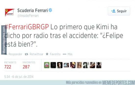 355327 - Gran gesto de Kimi Raikkonen tras su accidente