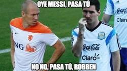 Enlace a Robben y Messi no se atreven con Alemania