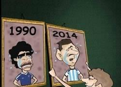 Enlace a Parecidos razonables entre el Maradona'90 y el Messi'14