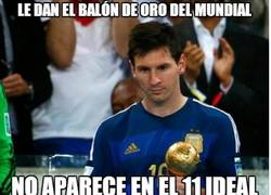 Enlace a Le dan el Balón de Oro del mundial y no aparece ni en el 11 ideal