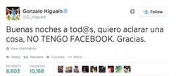 Enlace a Higuaín desmiente el texto a favor de Messi