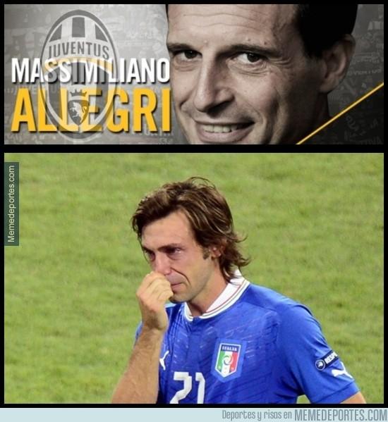 363563 - En 2012, Allegri no le quiso en el Milán, así que se fue a la Juventus. Ahora la Juve ficha a Allegr