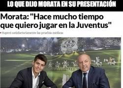 Enlace a Lo que dijo Morata en su presentación