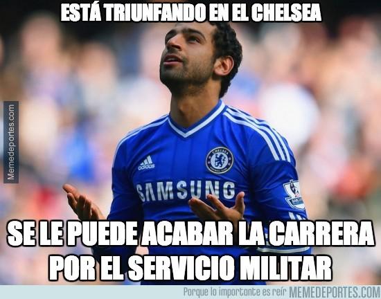364753 - El egipcio Mohamed Salah dejaría los 'blues' para hacer el servicio militar