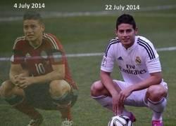Enlace a Cómo te cambian la expresión unos cuantos millones y un fichaje por el Real Madrid
