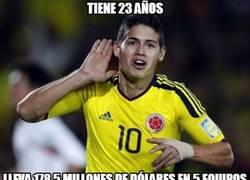 Enlace a James Rodríguez, el 'niño' que mueve millones