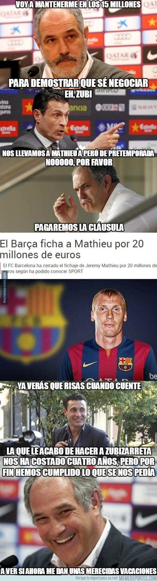 365605 - Así ha sido la negociación de Zubi con el Valencia por Mathieu