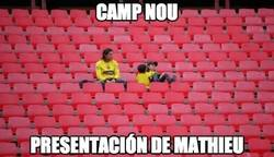 Enlace a El Camp Nou cuando Mathieu sea presentado