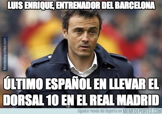 365810 - Luis Enrique, el 10 del Real Madrid