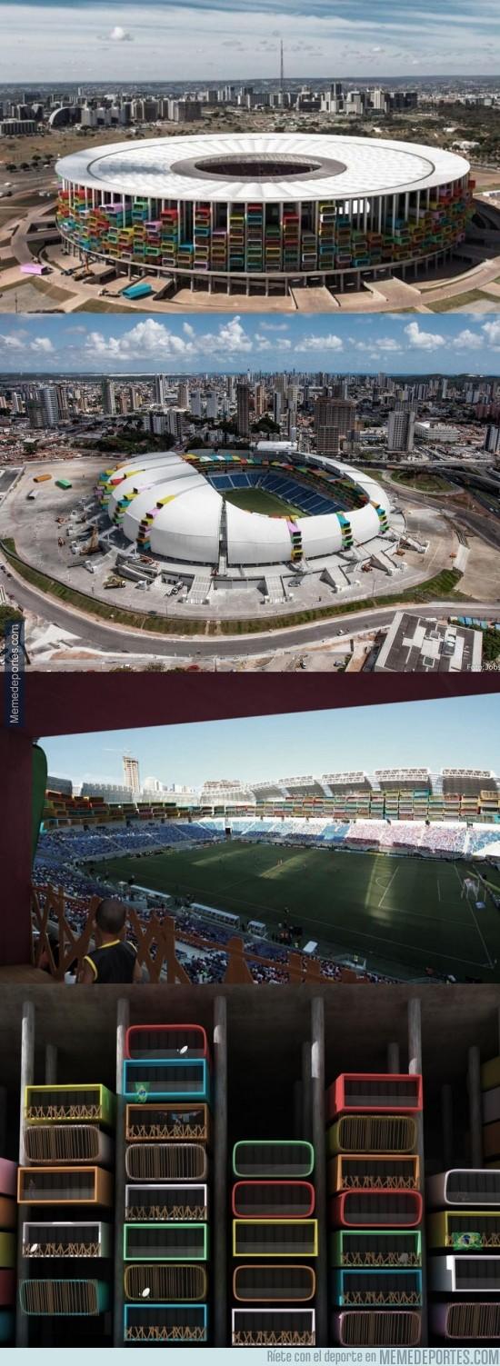 366027 - Genial idea para reconvertir a los estadios (vacíos) de Brasil 2014: hacer casas dentro de ellos