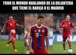 Enlace a El tridente que tiene el Bayern no se queda atrás