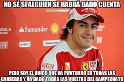 Enlace a Alonso haciendo una temporada muy regular en todos los sentidos