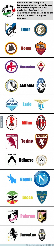 367170 - Escudos del Calcio italiano en los años 80