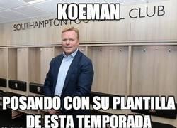 Enlace a Koeman y su plantilla
