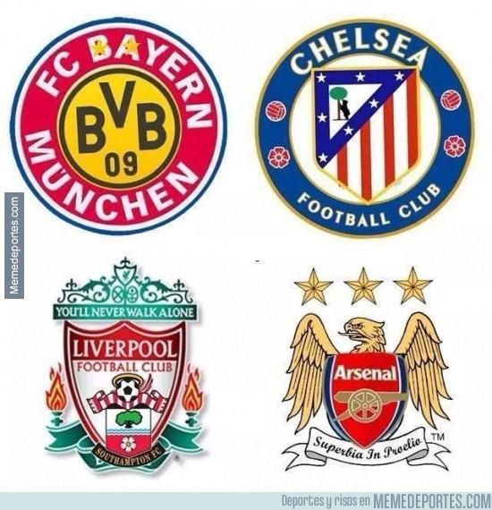 367596 - Los nuevos escudos de los equipos en Europa