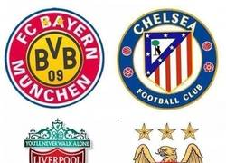 Enlace a Los nuevos escudos de los equipos en Europa