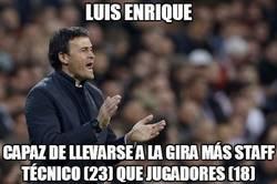 Enlace a El numeroso staff técnico de Luis Enrique