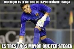 Enlace a Masip igual llega un poco tarde para ser el futuro de la portería del Barça