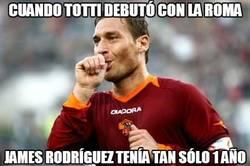 Enlace a Comparar a Totti con James y sentirte realmente viejo