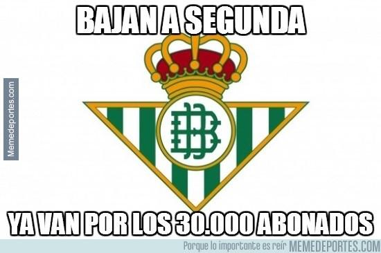 368239 - Betis, equipo de segunda, afición de primera