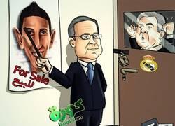 Enlace a Ancelotti intentando retener a Di María