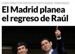 Enlace a Que Raúl González volviera sólo era cuestión de tiempo