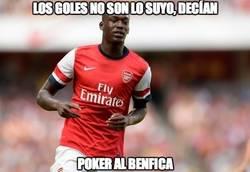 Enlace a Sanogo se sale contra el Benfica
