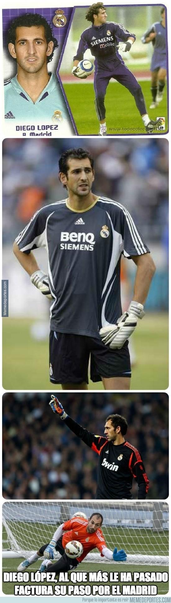 369727 - Diego López en el Madrid ha ganado mucho dinero, pero también perdido mucho pelo