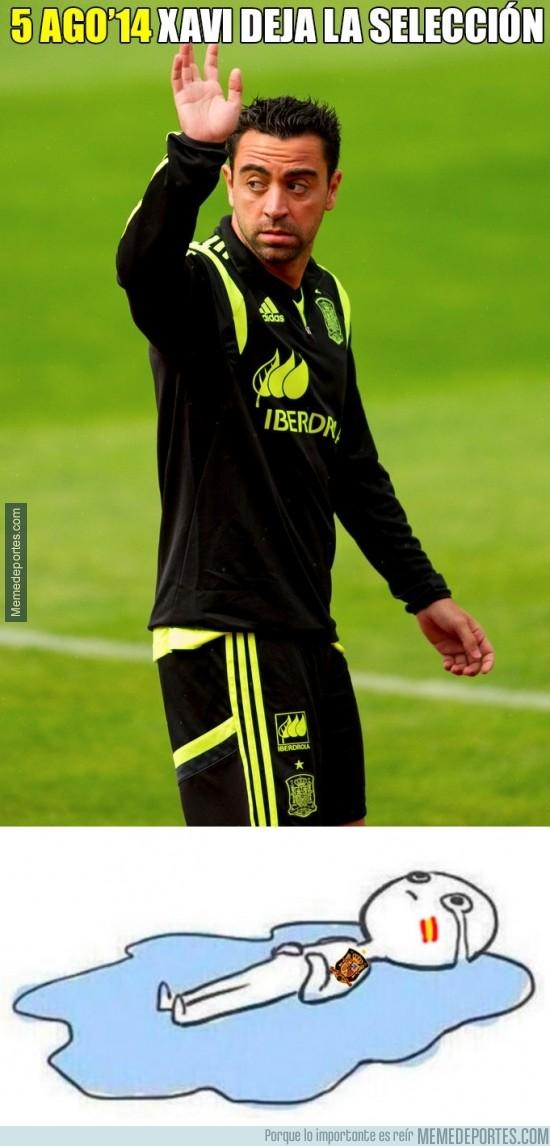 369872 - Xavi Hernández abandona la selección española