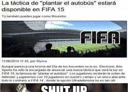 Enlace a En FIFA 15 se podrá plantar el autobús