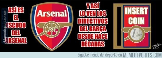 371585 - Así ve el Barça el escudo del Arsenal