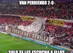Enlace a Grande la afición del Sevilla
